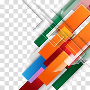 Design graphique couleur, fond coloré de technologie, décor abstrait orange, vert, bleu, rose et rouge png