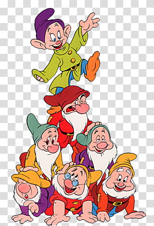 Illustration des 7 nains de Blanche-Neige, Seven Nains Blanche-Neige Mickey Mouse Winnie l'Ourson Minnie Mouse, Blanche-Neige et les sept nains png
