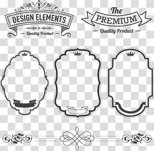 Étiquette Adobe Illustrator, étiquette, collage de cadres assortis png