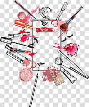 Illustration de rouge à lèvres rouge cosmétiques, aquarelle encre cosmétiques créatif, illustration de cosmétiques png