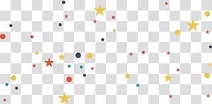 fond de conception créative étoiles de la Voie Lactée, étoile et boule multicolores png