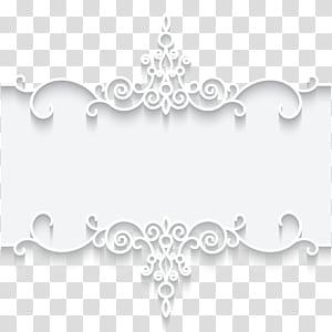 Papier dentelle cadre Textile, illustration de motif de dentelle blanche cadre carte, cadre floral blanc et gris png