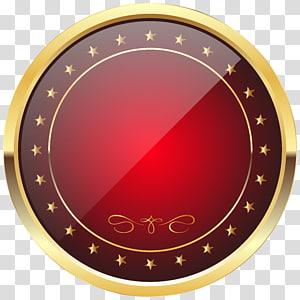 Rolex GMT Master II Badge Or, Modèle Badge Rouge et Or, illustration du cadre rond jaune et rouge png