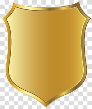 Bouclier d'or, officier de police YoWorld Badge Police militaire, modèle d'insigne en or png