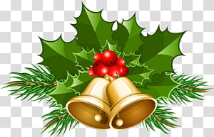 Cloche de Noël, grandes cloches de Noël, cloches de Noël en or png