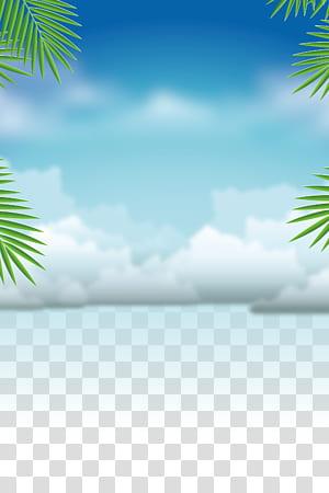 Vacances d'été, documents de base pour la formation en été, nuages blancs png
