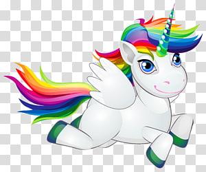 Licorne arc-en-poney cheval, poney arc-en-ciel mignon, oeuvre de Licorne volante png