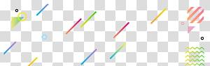 art graphique multicolore, lignes de triangle de géométrie abstraite png