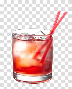 Verre à rhum clair avec deux pailles en plastique, Vodka Cocktail Martini Cape Cod Cosmopolitan, cocktail rouge avec de la paille png