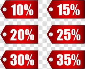 illustration étiquette de vente, bande adhésive, prix coupon de réduction, rouge étiquettes de réduction remise partie 1 png