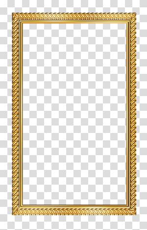 illustration de cadre en or rectangulaire, cadre, cadre png