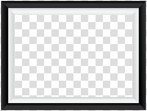 Cadre de zone carrée Motif noir et blanc, cadre de bordure blanc noir, cadre phootr digital png