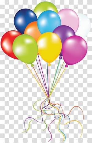 Balloon Birthday, Balloons, lot de ballons de couleurs assorties png
