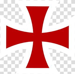 Croix blanche et rouge illustration, Croisades Chevaliers Templiers Croix chrétienne Croix de Malte Symbole, symbole du cancer png