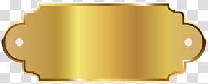 illustration de cadre de signalisation doré, modèle d étiquette dorée png