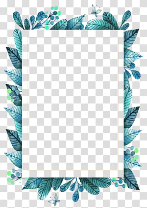 Cadre de feuille vert, cadre de feuilles vertes, illustration de feuilles vertes png