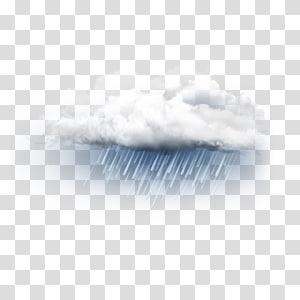 Nuage avec illustration de pluie, modèle de gros plan ciel, nuage de pluie png