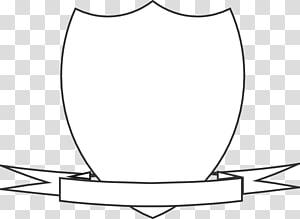 modèle de bouclier blanc, écusson Crest Shield, Crest Ribbon s png