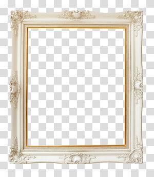 cadre, cadre vintage en ivoire, cadre en bois blanc png