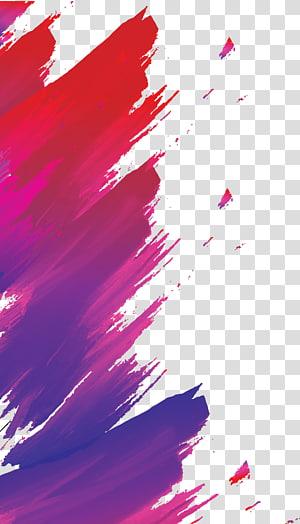 Peinture abstraite rouge et violet, Saxophone à affiches jazz, Fond à une affiche colorée png