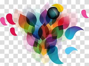 Ligne Adobe Illustrator de géométrie euclidienne, abstrait, multicolore png