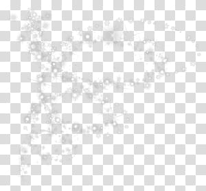 Motif d'angle de point noir et blanc, flocons de neige avec effet brillant png