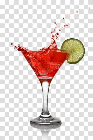 martini avec des tranches de citron, cocktail Bacardi Cosmopolitan Martini boisson distillée, cocktail png