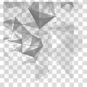 Technologie euclidienne, matériel créatif technologique, résumé bleu et noir png