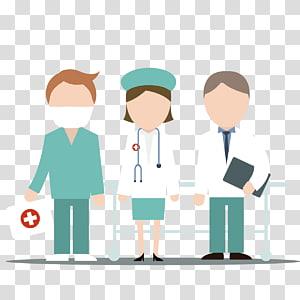 illustration de médecin et infirmière, infirmière de l'hôpital infirmier médecin, les médecins et les infirmières png