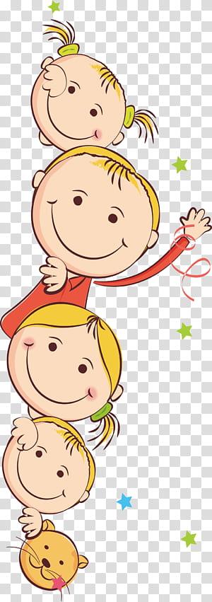 Enfant, enfants dessinés, illustration de filles png