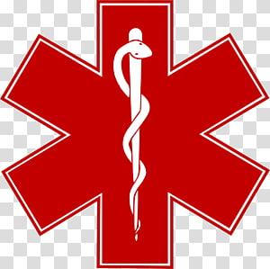 Logo serpent et épinglette Star of Life Symbole des services médicaux d'urgence, ambulance png