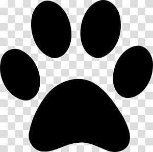 illustration de patte, impression de patte de chat de chien, patte png