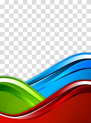 Modèle de couleur RVB bleu, fond de courbe, bleu, vert et rouge png
