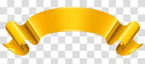 Ruban doré, bannière dorée, illustration du logo marron png