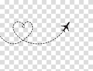 Avion vol avion, route de l'avion en forme de coeur, illustration de l'avion png