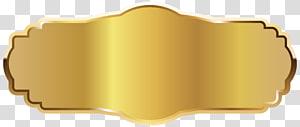 Icône dorée, étiquette dorée, badge doré png