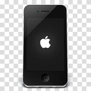 fonction téléphone mobile, iPhone Black Apple, iPhone 4 noir png