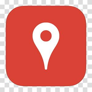 illustration de tache d'emplacement rouge et blanc, marque de symbole d'amour de coeur, MetroUI Google Places png