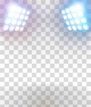 Lumière, effets d'éclairage créatifs, deux projecteurs blancs png