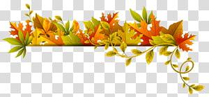 bordure de feuille brune, couleur de la feuille d'automne, Deco d'automne png