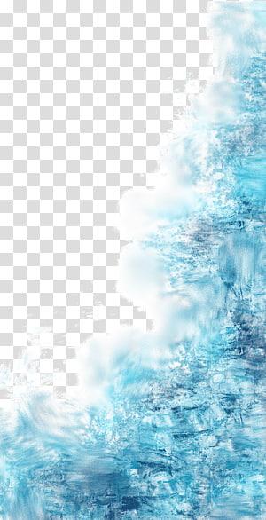 Éclaboussure d'eau bleu, bleu, illustration bleue png