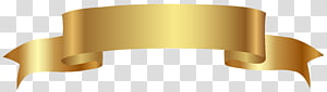 Bannière Web, bannière d'or, ruban d'or png