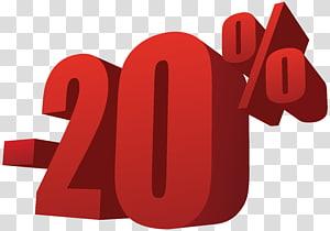 -20% illustration, 20% de réduction sur la vente png