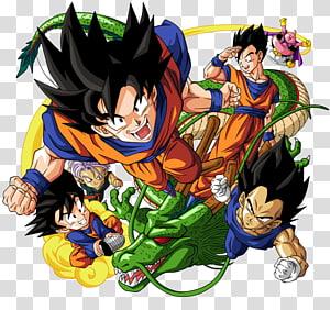 Illustration de personnages Dragonball, T-shirt Goku Vegeta, Dragon Ball de Gohan, Dragon Ball z png