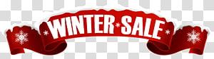 Logo de vente d'hiver, bannière de vente, bannière de vente d'hiver png