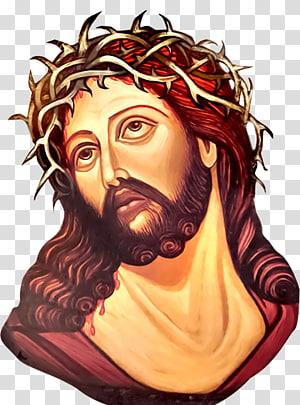 Icônes d'ordinateur de la Sainte Face de Jésus, Jésus-Christ png