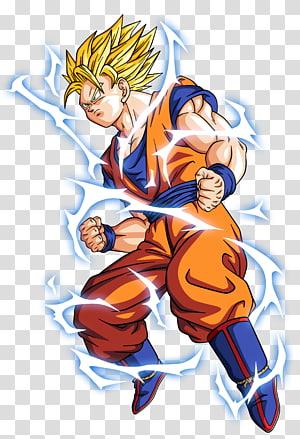 Dragon Ball Z Son Goku illustration, Dragon Ball Z Dokkan Battle Goku Vegeta Gohan Frieza, dragon ball z png