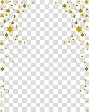 Bordure d'étoiles, surface bleue png