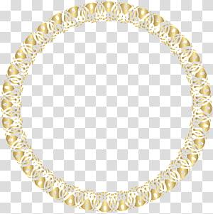 cadre de bordure ronde en or, cadre, cadre rond en or png