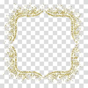 cadre Glitter Gold, matériau du cadre doré, cadre en or scintillant png